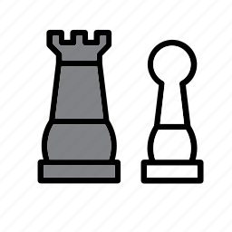 board game, chess, game, pawn, table, tablegame, tower icon