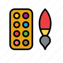 brush, paint, painting, palette, plaything, toy, toys icon
