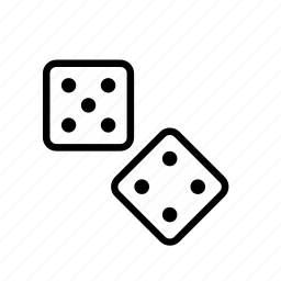 casino, dice, dices, gambling, game, plaything, toy icon