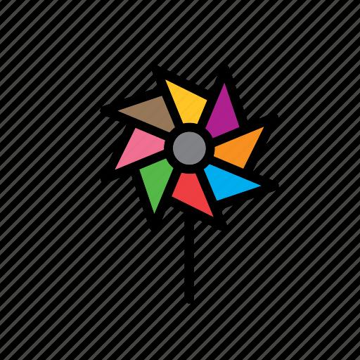 game, pinwheel, plaything, toy, toys, windmill icon