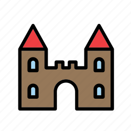 architecture, building, castle, game, plaything, toy, toys icon