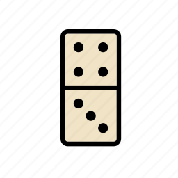 domino, game, piece, plaything, table, tablegame, toy icon