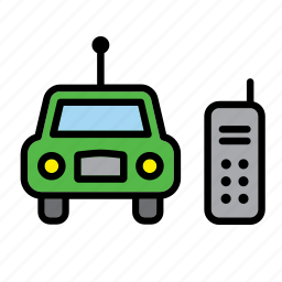 car, control, game, plaything, remote, remote-control, toy icon