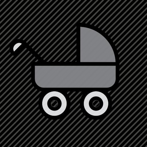 baby, buggy, carriage, kid, perambulator, pram, pushchair icon