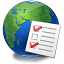 checklist, earth, global, service, world icon