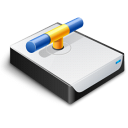 disk, drive, network icon