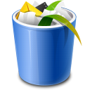 full, recycle bin, trash icon