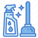 chemical, cleaner, disinfectant, rubber icon