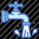 droplet, faucet, tap, water