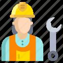 woman, plumber