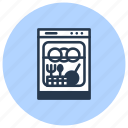 cleaning, dishes, dishwasher, kitchen icon