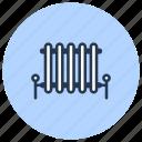 heating, interior, plumbing, radiator icon