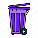 bin, dustbin, garbage, recycle, trash, waste