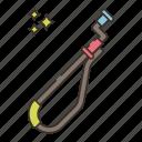 auger, closet, plumbing icon