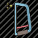 hacksaw, saw, tool icon