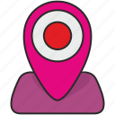 dot, hot, map, place, poi, point, pointer icon
