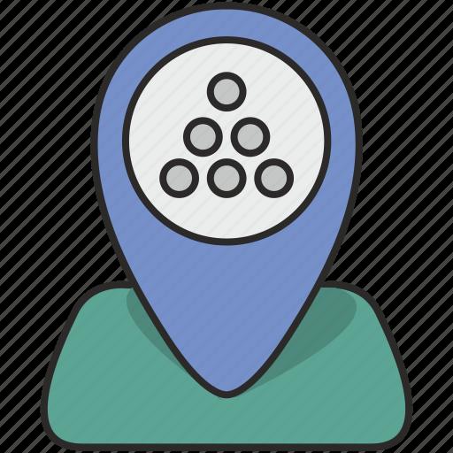 map, place, poi, pointer, stones icon