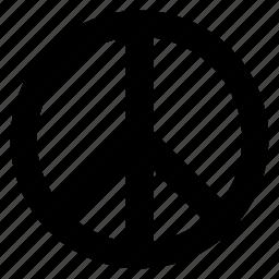 peace, peace symbol icon