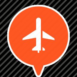 air terminal, airport, terminal icon