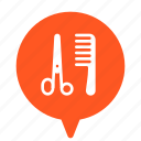 barber, barber shop, barbershop, hair salon, hairdresser, hairdressing salon icon
