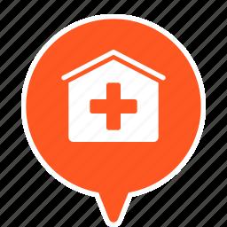 ambulance, clinic, hospital, infirmary, inpatient, medicine icon
