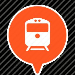 railway, station, terminal, train, transport, transportation icon