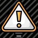 alert, danger, beware, signaling, warning icon