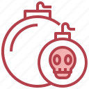 bomb, skull, explosion, explosive, death