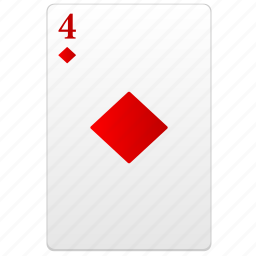 card, four, play, poker, red icon