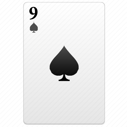 card, nine, poker, value icon