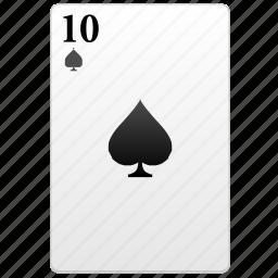 card, play, poker, ten icon