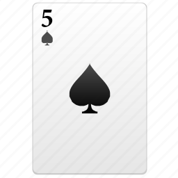 card, five, play, poker icon