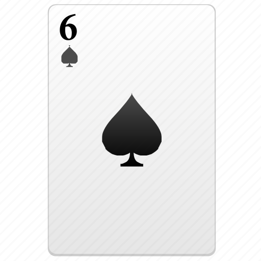 card, number, play, poker, six icon