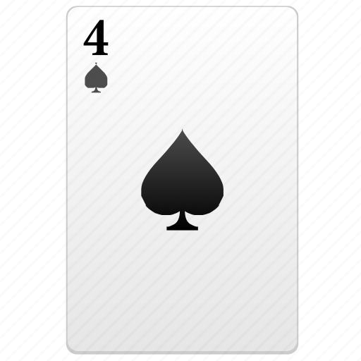 card, four, number, poker icon