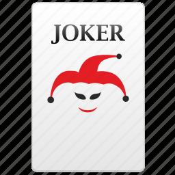 card, joker, poker, value icon
