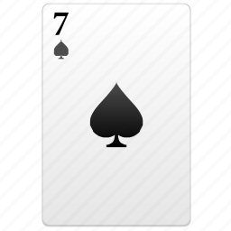 card, play, poker, seven icon