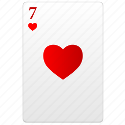 card, poker, red, seven icon