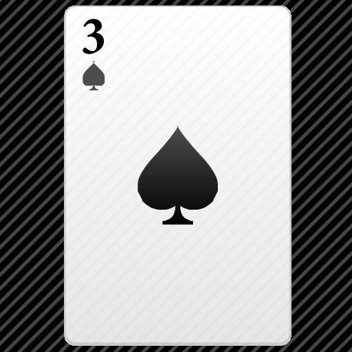 card, play, poker, three icon