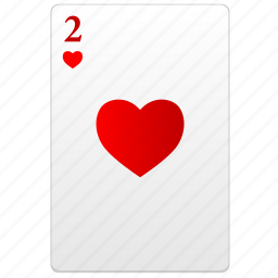 card, poker, red, two icon