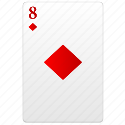 card, eight, play, poker, red icon
