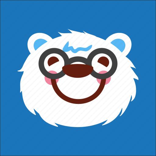 bear, face, geek, nerd icon