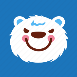 angry, bear, face, nasty icon