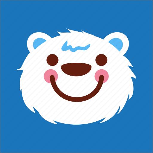bear, face, joyful, smile icon