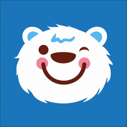 bear, enjoy, face, happy icon