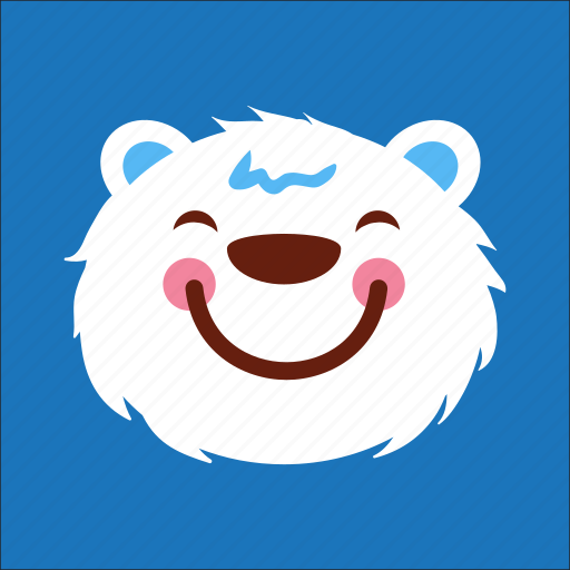 bear, face, happy, smile icon