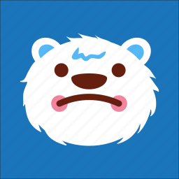 bear, disatisfy, face, sad icon