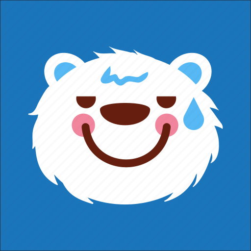 bear, face, lazy, usual icon