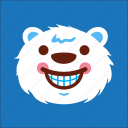 bear, face, laugh, smile icon