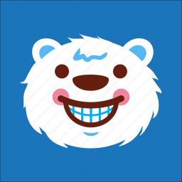 bear, face, laugh, smile icon