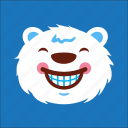 bear, cheer, face, smile icon